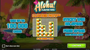 Aloha Cluster Pays Slot Gameplay