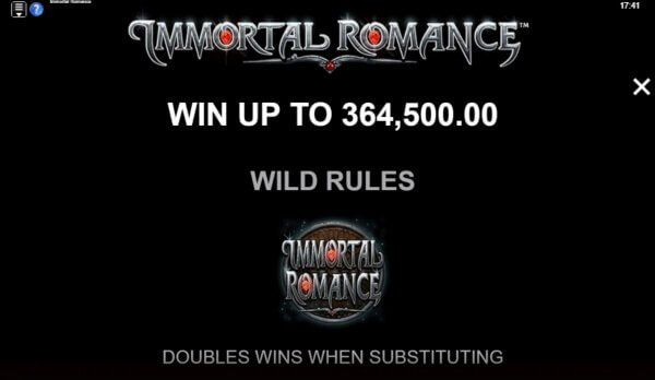 Immortal Romance Slot Wins